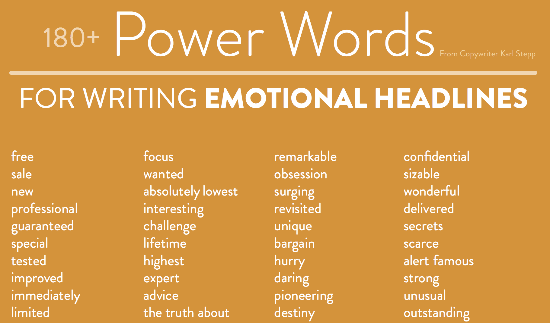 180+ Power Words for Writing Emotional Headlines
